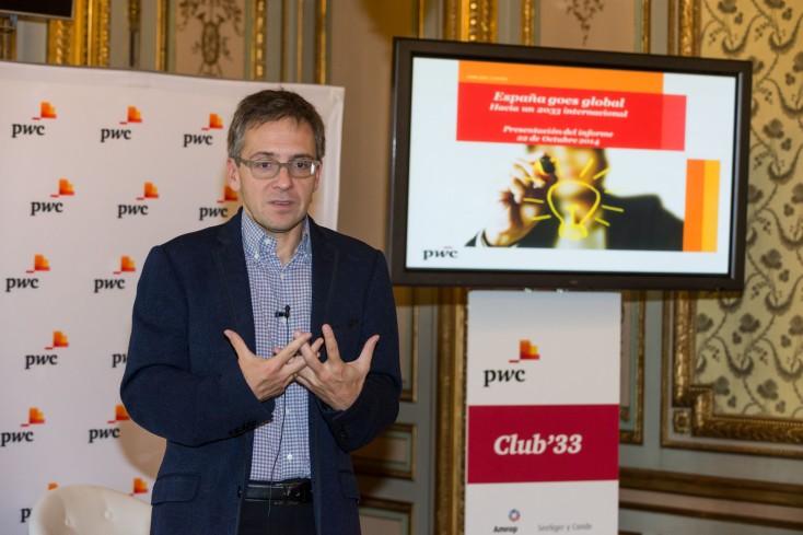 Ian Bremmer en la presentación del informe España 'goes global' de PwC.